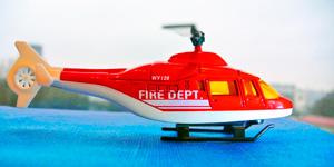 Новые игрушки для мальчиков.  Пожарный вертолёт.